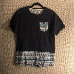 BellField Blue Patterned Pocket T-Shirt (m)